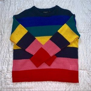 NWOT Colorful Striped Sweater